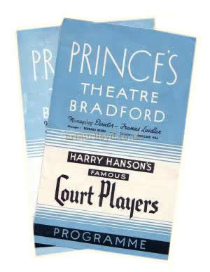 Two 1940s Programmes for the Prince's Theatre, Bradford; 'The Guinea Pig' 1948 and 'A Cuckoo In The Nest' 1949 - Click for details.