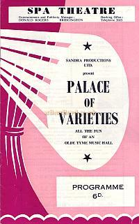 Programme for 'Palace of Varieties' at the Spa Theatre Bridlington. Year Unknown.