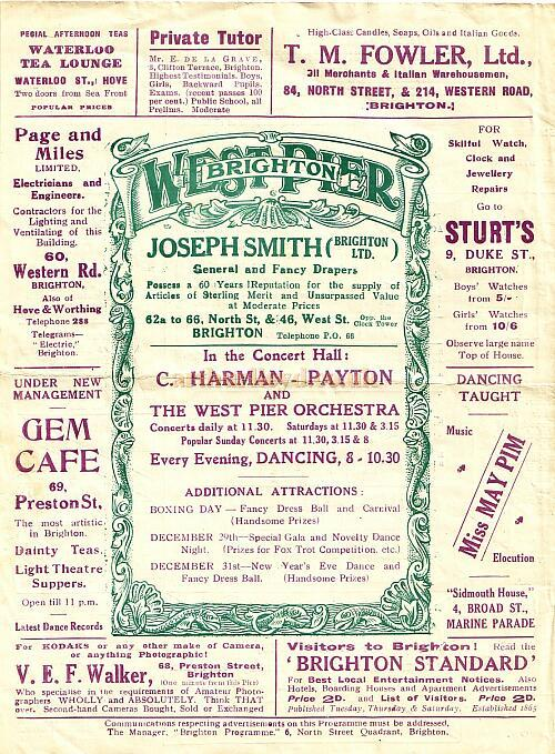 A programme for the pantomime 'Little Red Riding Hood' at the Theatre Royal, Brighton in 1892 / 1893