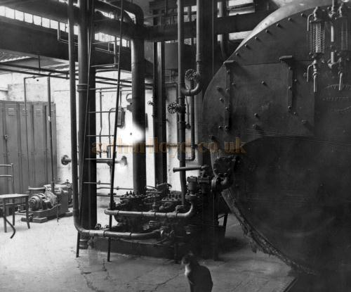 The Boiler Room at the Brixton Astoria in the late 1940s - Courtesy Philip Dansie, whose father, Don Dansie, worked at the Theatre for over 50 years as Chief Engineer.