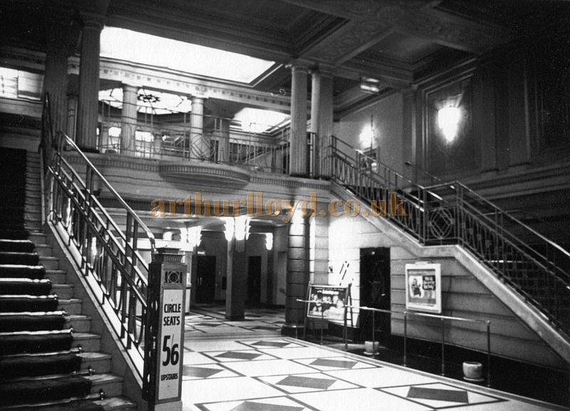 The Foyer and Vestibule of the Astoria Brixton in the 1950s - Courtesy Philip Dansie, whose father, Don Dansie, worked at the Theatre for over 50 years as Chief Engineer.