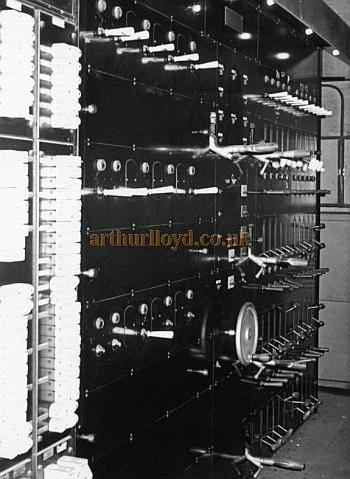 The Brixton Astoria's Berkeley Switchboard, for stage and house lighting in the late 1940s - Courtesy Philip Dansie, whose father, Don Dansie, worked at the Theatre for over 50 years as Chief Engineer.