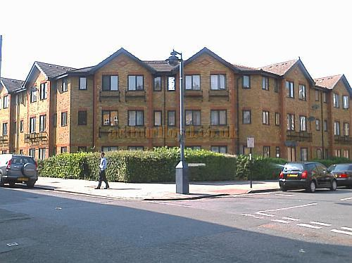 The Housing Estate on Bernay's Grove, Brighton Terrace, Brixton which was built on the site of the former Empress Theatre / Granada Cinema in 1992 - M.L. 2008.