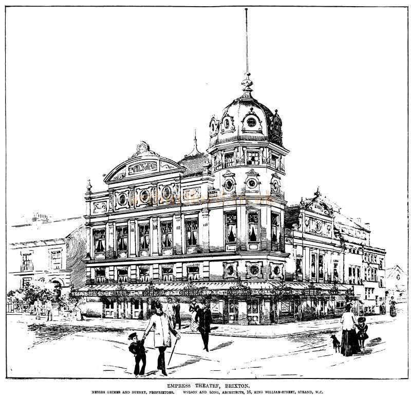 A sketch of the Empress Theatre, Brixton - From the ERA, 17th of December 1898 - To see more of these Sketches click here