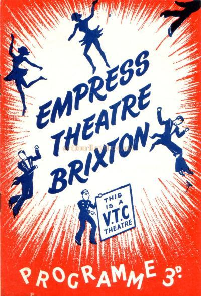 Programme for the Empress Theatre, Brixton - October 17th 1955