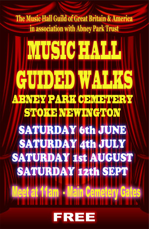 Details for the 2015 Music Hall guided walks at Abney Park Cemetery.