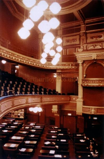 The auditorium of the Burnley Empire whilst in use for Bingo in 1982 - Courtesy Ted Bottle.