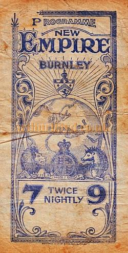 An early Twice Nightly Variety Programme for the Burnley Empire - Courtesy Martin Moore