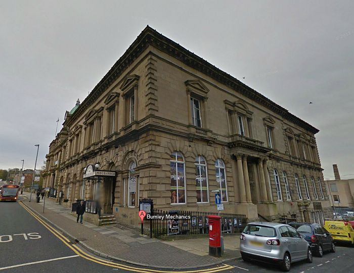 A Google Street View Image of the Mechanics Theatre, Burnley - Click to Interact