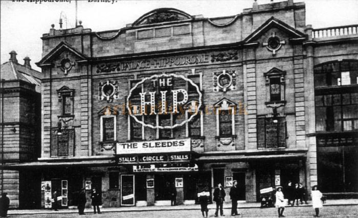 The Palace Hippodrome Theatre, Burnley, during the run of 'The Sleedes' - Courtesy Geoff Lord