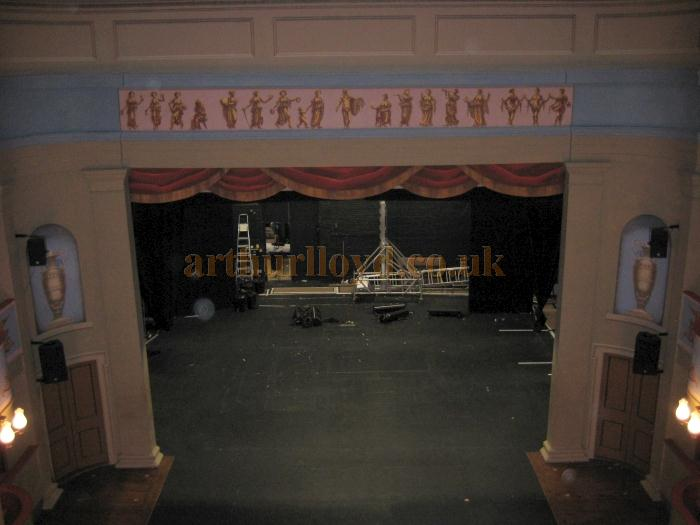 The stage of the Theatre Royal, Bury St. Edmunds in 2009 - Courtesy David Garratt.