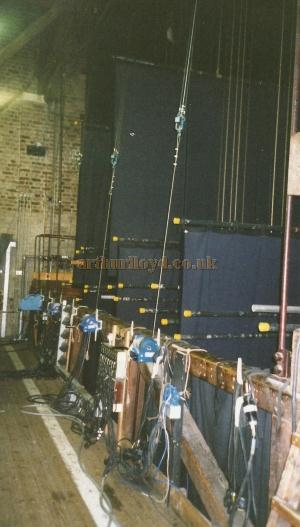 The Fly Floor of the Buxton Opera House in 2000 - Courtesy David Garratt.