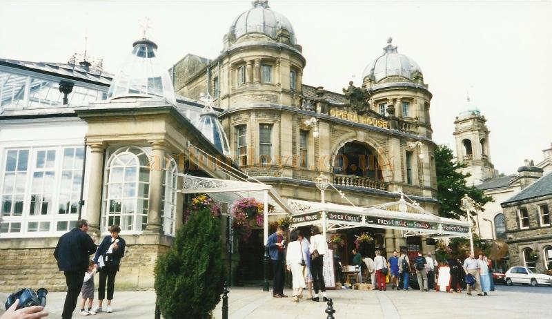 The Buxton Opera House and  Winter Gardens entrance in a photograph taken in 2000 - Courtesy David Garratt