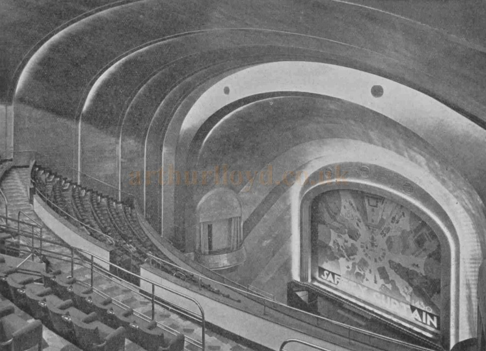The Auditorium of the Cambridge Theatre - From The Bioscope, 3rd September 1930.