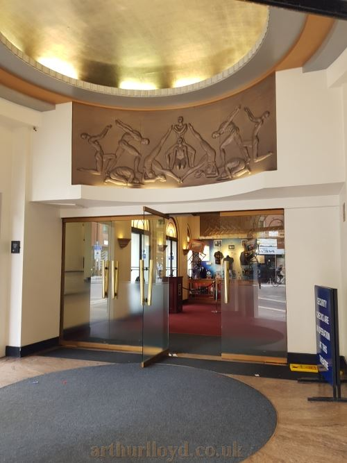 The Entrance Foyer of the Cambridge Theatre in September 2018.