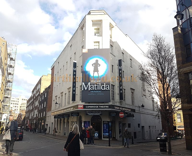 The Cambridge Theatre during the run of Roald Dahl's 'Matilda' in March 2018 - Photo M.L.