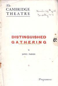 Programme for 'Distinguished Gathering' at the Cambridge Theatre in 1936.