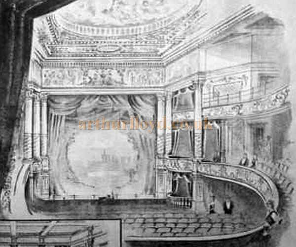 The Auditorium and Stage of the Theatre Royal, Cambridge - From The American Architect and Building News of July 1895.