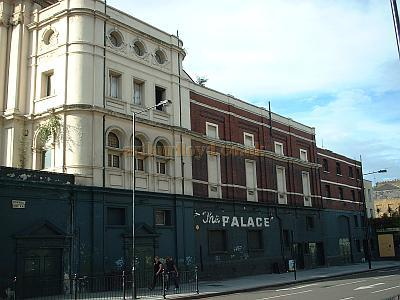 The side elevation of the Camden Palace in 2004.