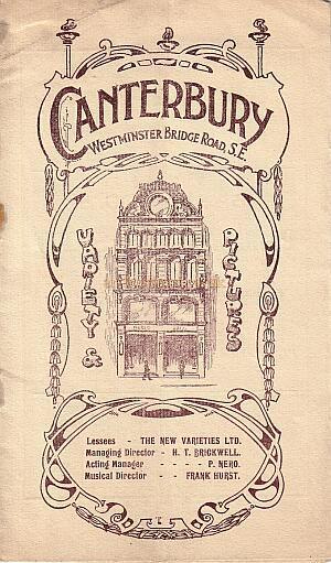Canterbury programme - July 1913 - Courtesy Peter Charlton