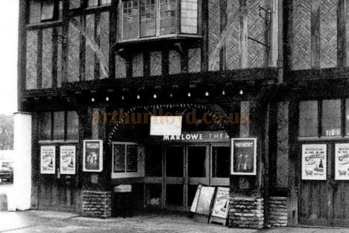 The First Marlowe Theatre in the 1960s - Courtesy Rosemarie Sheridan, who was in the Company there at the time, and Stephen Wischhusen