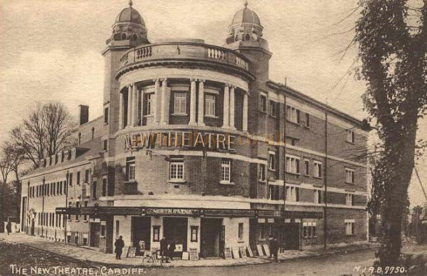 The New Theatre, Cardiff - From an early Postcard.