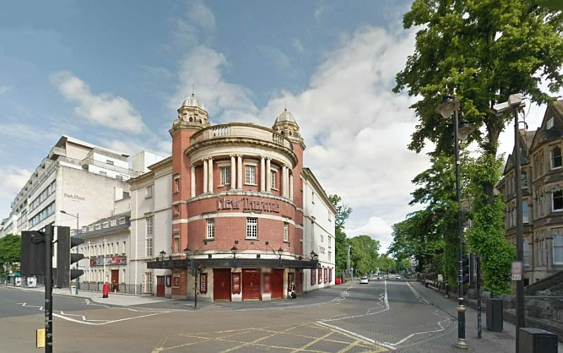A Google StreetView Image of the New Theatre, Cardiff - Click to Interact