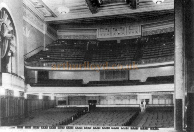 The auditorium of the Carlton Theatre in 1927 - From a Brochure produced by Cannon Cinemas in 1988 to celebrate sixty years of the Carlton Theatre - Click to see the whole Brochure.