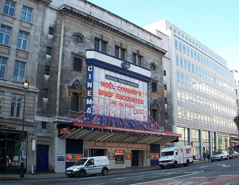 The former Carlton Theatre, Haymarket in February 2008, whilst home to a live version of Noel Coward's 'Brief Encounter' in its temporarily converted number one Cinema - Photo M.L.