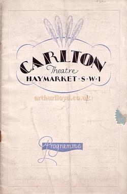 A Film Programme for the Carlton Theatre in 1929.