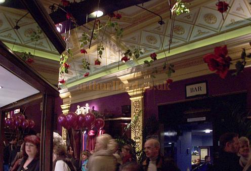 The Foyer of the Cineworld Cinema Haymarket, previously the Carlton Theatre, which in 2008 was temporarily converted back to live Theatre use by the Kneehigh Theatre Company for their production of Noel Coward's 'Brief Encounter.' - Photo M.L.