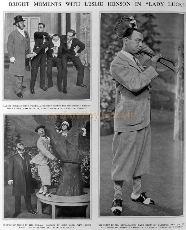 Images from 'Lady Luck', the first production at the Carlton Theatre - From the Illustrated sporting and Dramatic News, May 21st 1927.