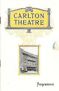 A Programme for 'Lady Luck', the first production at the newly opened Carlton Theatre, Haymarket. - Click to see entire programme.
