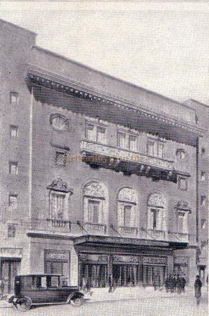 The Carlton Theatre, Haymarket from the opening night programme of 'Lady Luck'.