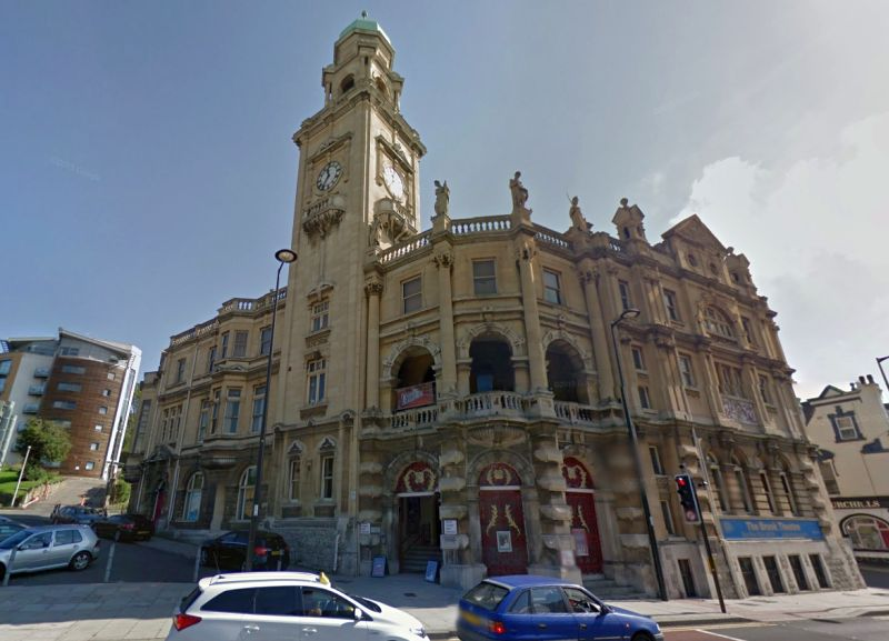A Google StreetView Image of the Brook Theatre, Chatham, formerly the Chatham Town Hall - Click to Interact