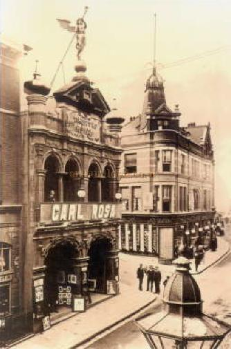 The Theatre Royal, Chatham with billing for the Carl Rosa Opera Company in what is probably the 1920s - Courtesy Graham White.