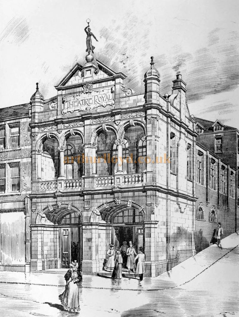 A Sketch of the Theatre Royal, Chatham - From the Building News and Engineering Journal, November 25th 1898