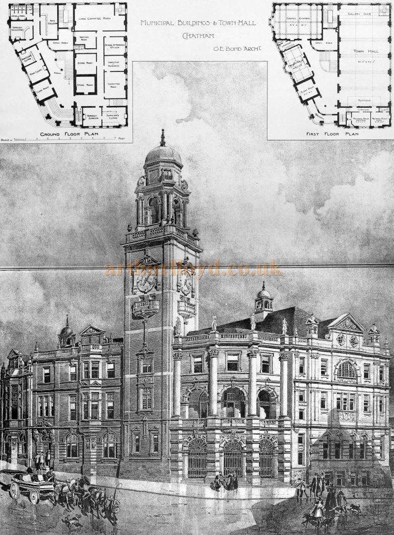 The Chatham Town Hall - From The Building News and Engineering Journal of December 4th 1896.