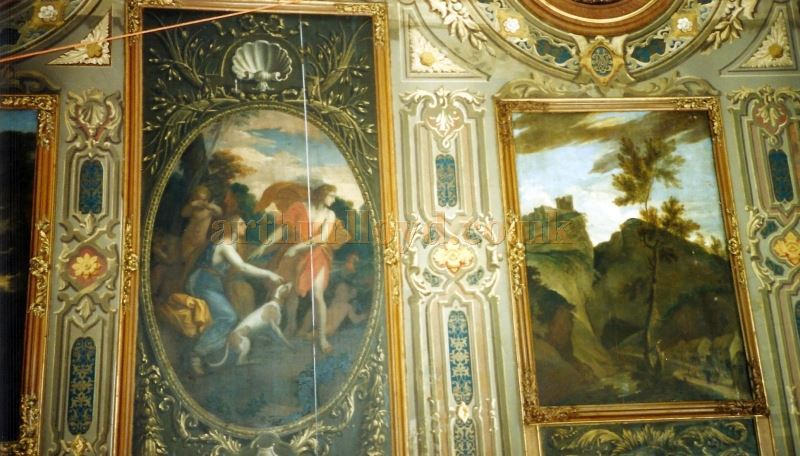 The Ceiling decoration at the Chatsworth House Theatre - Courtesy David Garratt.