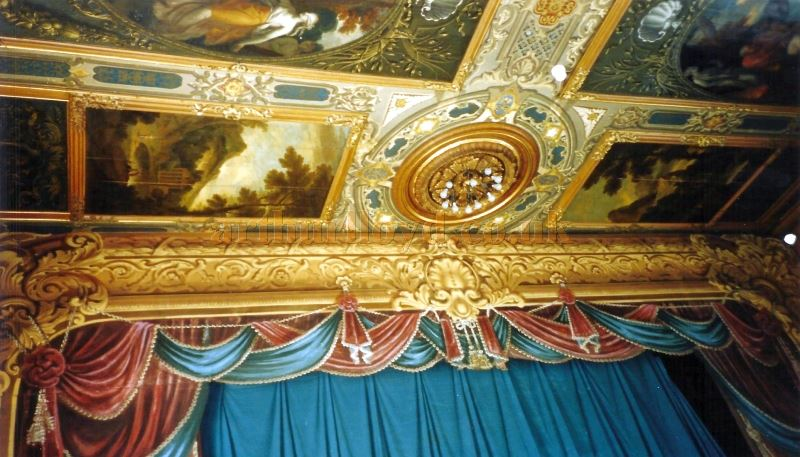The Proscenium and Ceiling of the Chatsworth House Theatre - Courtesy David Garratt