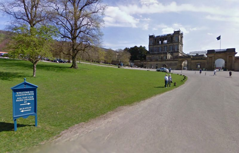 A Google StreetView Image of Chatsworth House - Click to Interact