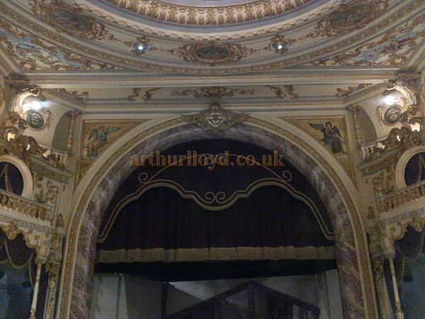 The Proscenium of the Everyman Theatre, Cheltenham in October 2011 - Courtesy Tim Speechley.