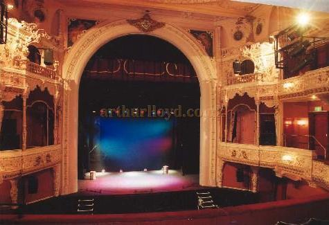 The Auditorium and stage of the Everyman Theatre in 2006 - Courtesy Derek Aldridge and Les Osman.