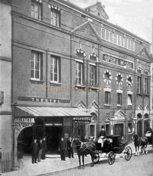 A period photograph of the Everyman, Cheltenham when it was known as the New Theatre and Opera House.