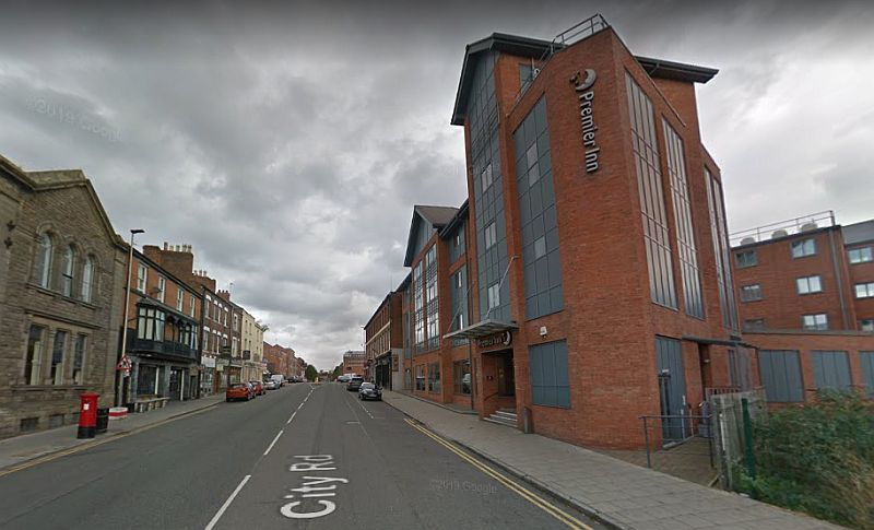 A Google StreetView Image of the site of the former Royalty Theatre, Chester - Click to Interact.
