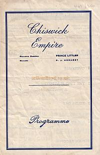 A Variety Programme for the Chiswick Empire on July the 21st 1947.