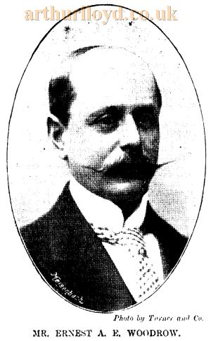 Ernest Woodrow, architect of the Grand Theatre, Clapham - From the ERA, 1st of December 1900.