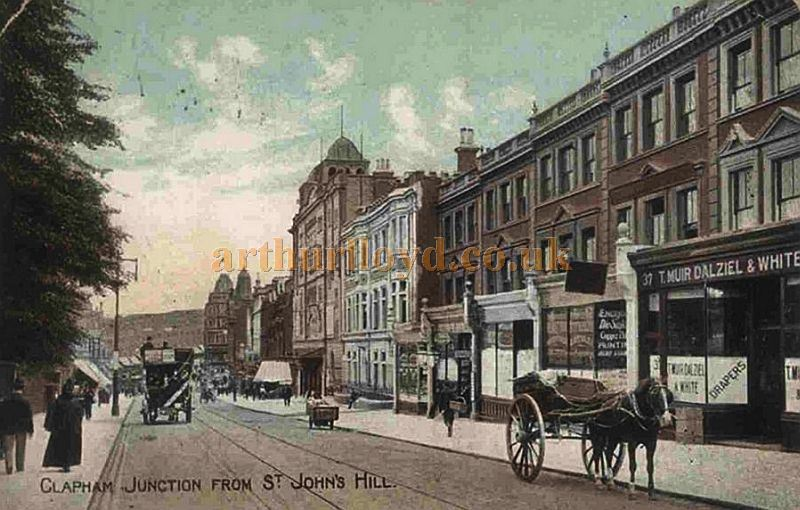 The Grand, Clapham Junction, which is the tallest building on the right.  From a postcard 1905 - Courtesy Alan Garner & Richard Milsom