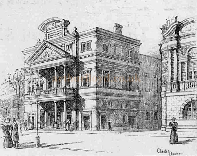 A Drawing of the Shakespeare Theatre by Chester Dawson - From The Graphic, 14th November 1896.