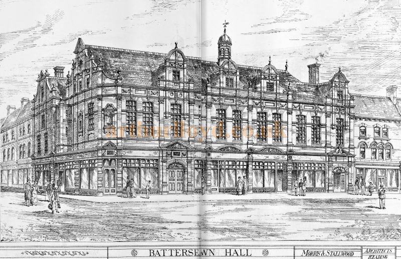 An Engraving of the Battersea Town Hall, today the Battersea Arts Centre - From the Builder of the 17th of March 1883.